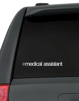 Hashtag Medical Assistant Decal Pack