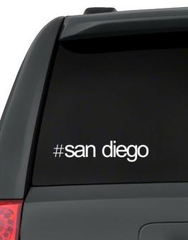 Hashtag San Diego Decal Pack