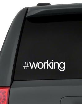 Hashtag Working Decal Pack