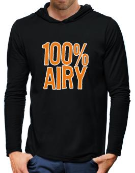 100% Airy Hooded Long Sleeve T-Shirt-Mens