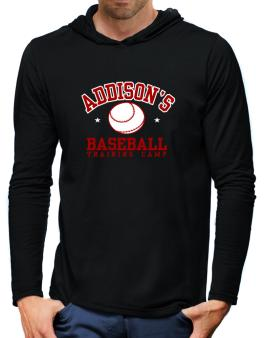 Addisons Baseball Training Camp Hooded Long Sleeve T-Shirt-Mens