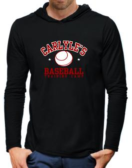Carlyles Baseball Training Camp Hooded Long Sleeve T-Shirt-Mens
