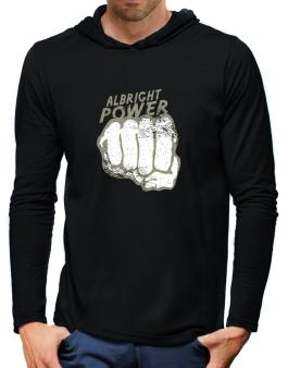 Albright Power Hooded Long Sleeve T-Shirt-Mens