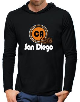 San Diego - State Hooded Long Sleeve T-Shirt-Mens