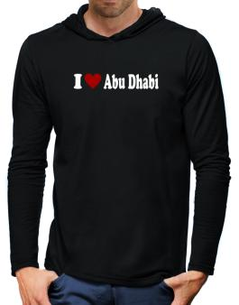 I Love Abu Dhabi Hooded Long Sleeve T-Shirt-Mens