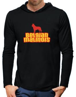 Breed Color Belgian Malinois Hooded Long Sleeve T-Shirt-Mens