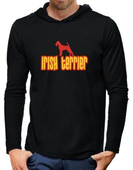 Breed Color Irish Terrier Hooded Long Sleeve T-Shirt-Mens