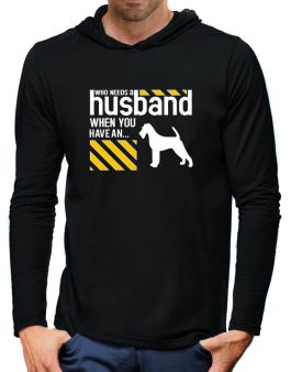 Who Needs A Husband When You Have A ... Irish Terrier Hooded Long Sleeve T-Shirt-Mens