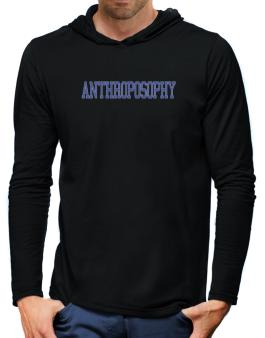 Anthroposophy - Simple Athletic Hooded Long Sleeve T-Shirt-Mens