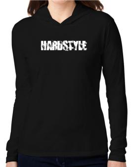Hardstyle - Simple Hooded Long Sleeve T-Shirt Women