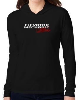 Elevator Mechanic With Attitude Hooded Long Sleeve T-Shirt Women