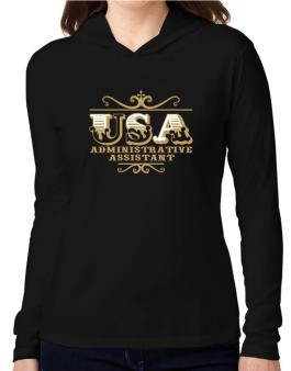 Usa Administrative Assistant Hooded Long Sleeve T-Shirt Women
