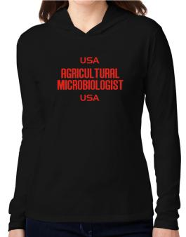 Usa Agricultural Microbiologist Usa Hooded Long Sleeve T-Shirt Women