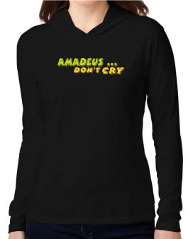 Amadeus Dontcry Hooded Long Sleeve T-Shirt Women