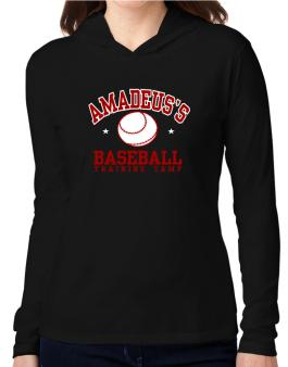 Amadeuss Baseball Training Camp Hooded Long Sleeve T-Shirt Women