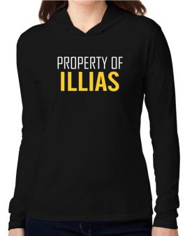 Property Of Illias Hooded Long Sleeve T-Shirt Women