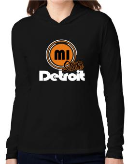 Detroit - State Hooded Long Sleeve T-Shirt Women