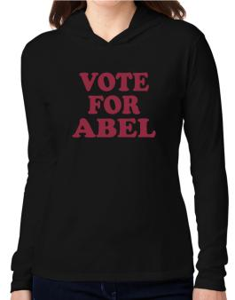 Vote For Abel Hooded Long Sleeve T-Shirt Women