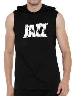 Jazz - Simple Hooded Sleeveless T-Shirt - Mens