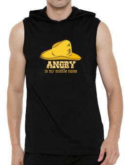 Angry Is My Middle Name Hooded Sleeveless T-Shirt - Mens