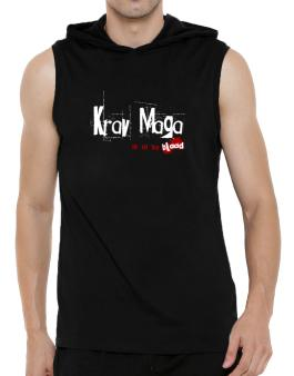 Krav Maga Is In My Blood Hooded Sleeveless T-Shirt - Mens