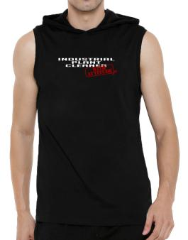 Industrial Plant Cleaner With Attitude Hooded Sleeveless T-Shirt - Mens