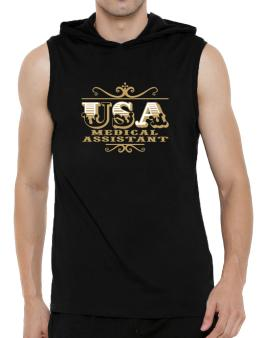 Usa Medical Assistant Hooded Sleeveless T-Shirt - Mens