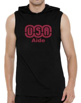 Usa Aide Hooded Sleeveless T-Shirt - Mens