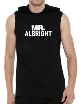 Mr. Albright Hooded Sleeveless T-Shirt - Mens