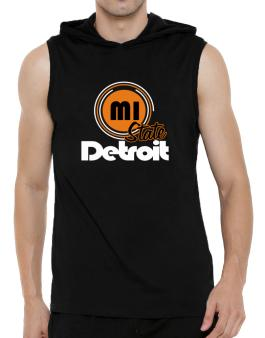 Detroit - State Hooded Sleeveless T-Shirt - Mens
