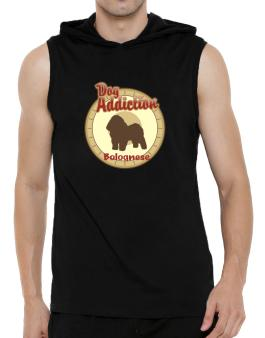 Dog Addiction : Bolognese Hooded Sleeveless T-Shirt - Mens