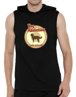 Dog Addiction : Labradoodle Hooded Sleeveless T-Shirt - Mens