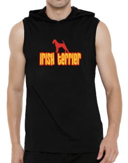 Breed Color Irish Terrier Hooded Sleeveless T-Shirt - Mens