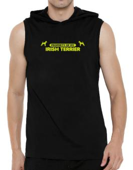 Property Of My Irish Terrier Hooded Sleeveless T-Shirt - Mens