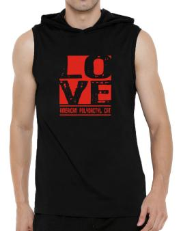 Love American Polydactyl Hooded Sleeveless T-Shirt - Mens