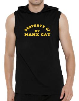 Property Of My Manx Hooded Sleeveless T-Shirt - Mens