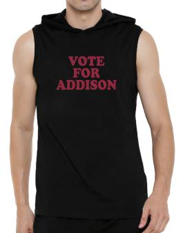 Vote For Addison Hooded Sleeveless T-Shirt - Mens