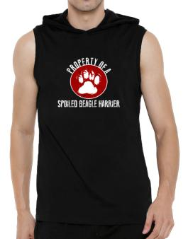 Property of a spoiled Beagle Harrier Hooded Sleeveless T-Shirt - Mens