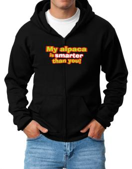 My Alpaca Is Smarter Than You! Zip Hoodie - Mens