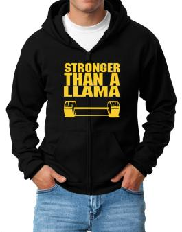 Stronger Than A Llama Zip Hoodie - Mens