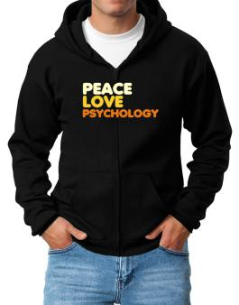 Peace Love Psychology Zip Hoodie - Mens