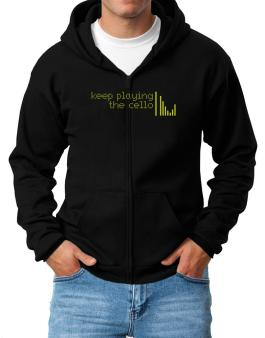 Keep Playing The Cello Zip Hoodie - Mens