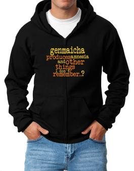 Genmaicha Produces Amnesia And Other Things I Dont Remember ..? Zip Hoodie - Mens