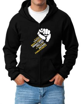 If Your Parents Dont Like Broken Down Golf Cart , Its Time To Become Independent Zip Hoodie - Mens