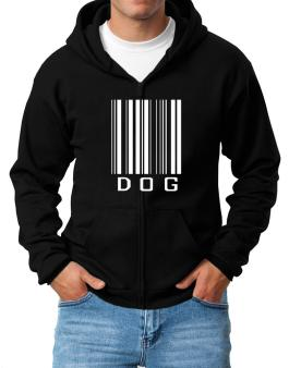 Dog Barcode / Bar Code Zip Hoodie - Mens