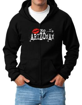 Kiss Me, Im Arizonan - Lips Zip Hoodie - Mens