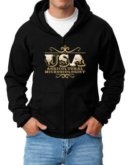 Usa Agricultural Microbiologist Zip Hoodie - Mens