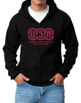 Usa Administrative Assistant Zip Hoodie - Mens