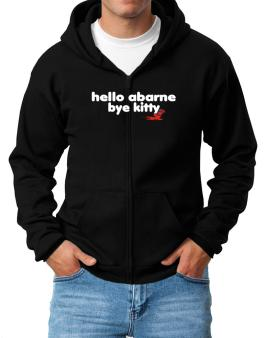 Hello Abarne Bye Kitty Zip Hoodie - Mens