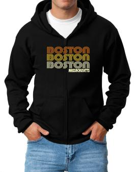 Boston State Zip Hoodie - Mens